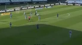 Suarez segna la rete del vantaggio. MovistarLaLiga