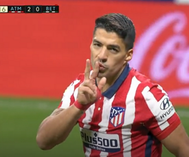 Suárez scored for Atlético. Screenshot/MovistarLaLiga