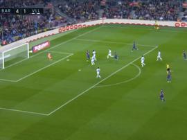 Suárez cerró el ciclo y marcó a todos sus rivales en Liga. Captura/beinSports