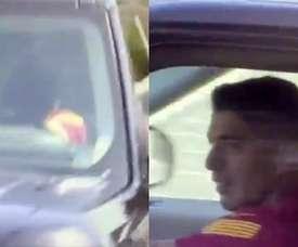 Luis Suárez diz adeus em meio a lágrimas. Capturas/Twitter/alexpintanel