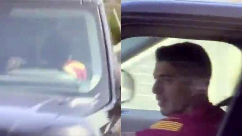 Atletico-bound Suarez leaves last Barca training in tears. Capture/GOL