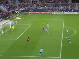 O momento do gol de Luis Suárez. Captura/MovistarPartidazo