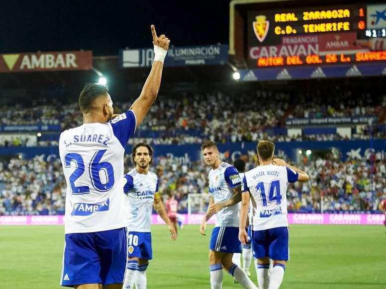 El Luis Suárez goleador que no viste de azulgrana. Twitter/RealZaragoza