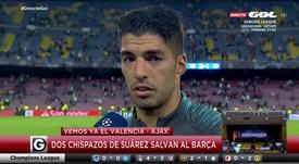 Luis Suárez est revenu sur la remontada de l'Inter après ses deux buts. Capture/GOL