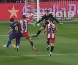 O momento do gol de Suárez, o 1-1. Captura/beINSports