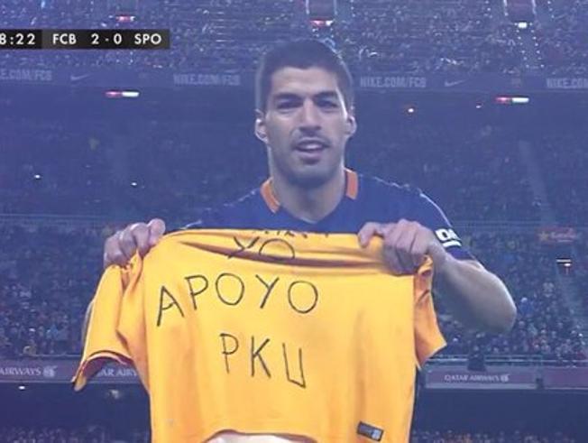 Luis Suárez no se olvidó de la promesa que le hizo a Candela.