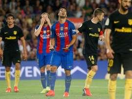 Luis Suarez ne sera pas de la partie face à Alavés. AFP