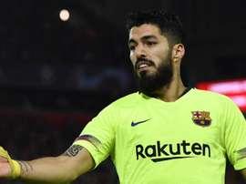 Suárez, blessé. EFE/Archive