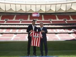 Luis Súarez a choisi son numéro. Twitter/Atlético