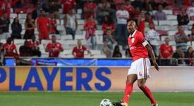 O capitão dos 'encarnados' não ficou satisfeito com a derrota no Bessa. Facebook/Benfica