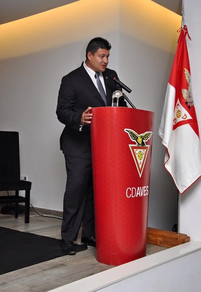 O presidente do Aves quer que o clube cresça cada vez mais, a nível internacional. Facebook