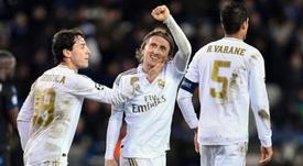 O Modric mais artilheiro do Real Madrid. AFP