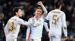 Modric analysed Real Madrid's win. AFP