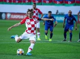 Croácia se complica contra o lanterna do seu grupo. Twitter/HNS_CFF