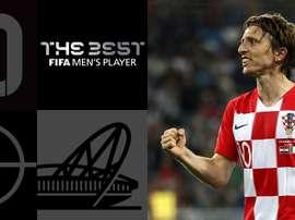 Luka Modric ha vinto il premio 'The Best'. EFE