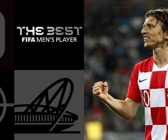 Luka Modric remporte la récompense. FIFA