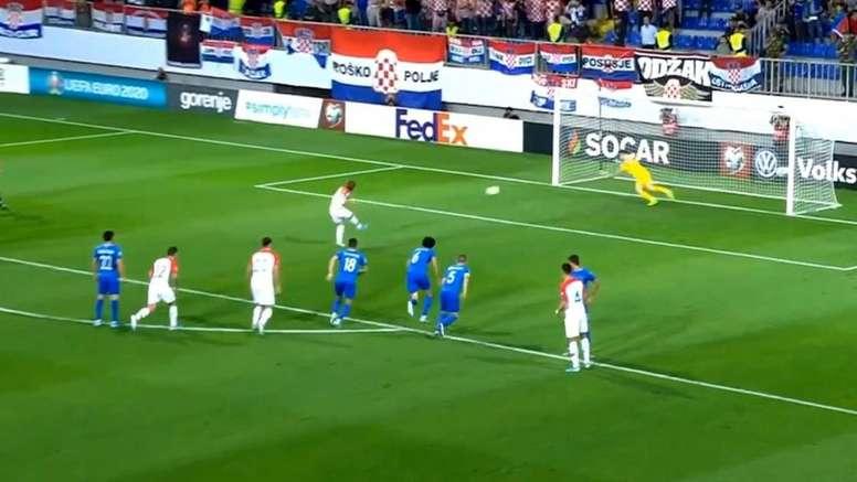 Modric no falló el penalti. Captura/BeMad