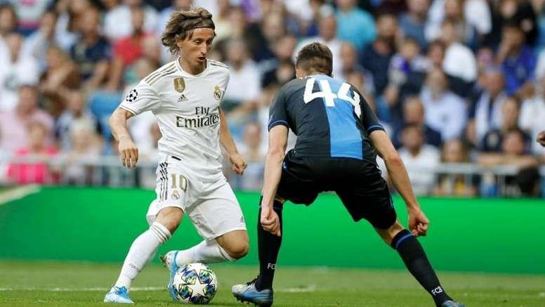 Luka Modric admitiu uma importante parcela de culpa no empate com o Brugge. Twitter/realmadrid
