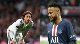 Modric y Neymar no entraron en la lista de los 30 mejores. AFP