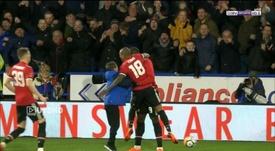 Lukaku puso el 0-2 definitivo. Captura/BeinSports