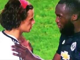 Lukaku consoles Svilar after his costly error. Twitter