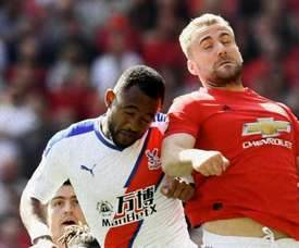 Luke Shaw went off injured before the end of the first-half. manutd