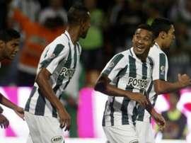 Macnelly Torres marcó los dos goles de Atlético Nacional ante Patriotas. EFE