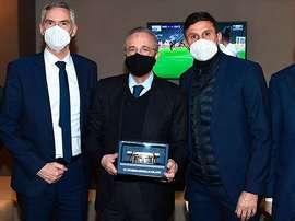 Intercambio de obsequios entre Inter y Madrid. RealMadrid