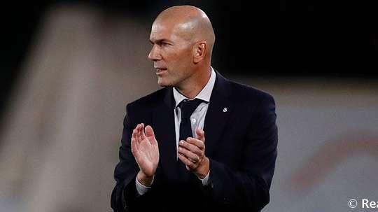 Zidane valoró la actuación de Courtois. RealMadrid