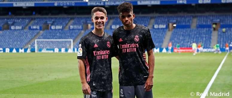 Marvin y Arribas debutaron con el Real Madrid. RealMadrid