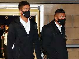 El Real Madrid llegó a Sevilla en la mañana del mismo sábado. RealMadrid