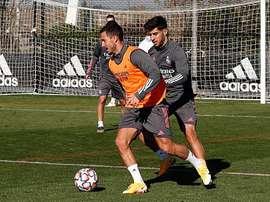 El Madrid continuó con los trabajos pensando en el Inter. RealMadrid