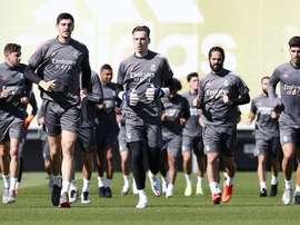 El Madrid se entrenó tras la victoria ante el Betis. RealMadrid