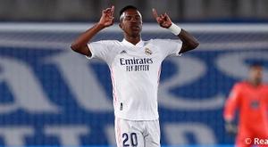 Vinicius habló sobre el rendimiento del Madrid. RealMadrid