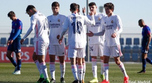 El Castilla se impuso al CD Móstoles en su primer partido del año. RealMadrid