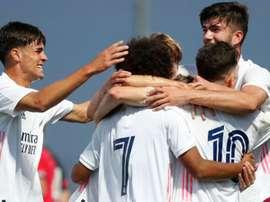 El Madrid se enfrenta al United en la UEFA Youth League. RealMadrid