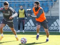 Benzema volvió a entrenarse al margen y es duda para el Inter. RealMadrid