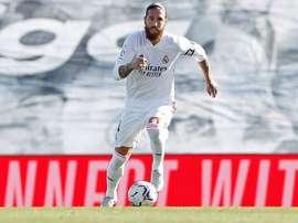 Ramos igualó a Santillana para ser el cuatro madridista con más partidos en Liga. RealMadrid