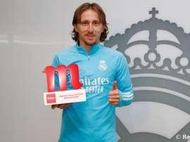 Modric, mes redondo: fue elegido mejor jugador de diciembre. RealMadrid