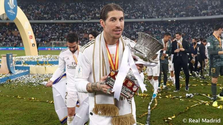 Sergio Ramos, madridista con más partidos en la Supercopa. DUGOUT