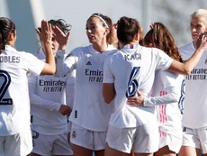 Victoria clara del Real Madrid sobre el Madrid CFF. RealMadrid