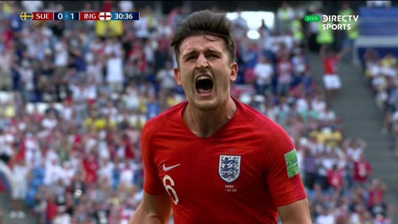 Maguire celebrates. DirecTVSports/Screenshot