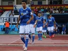Un gol de Yacine dio los tres puntos al líder. UDMelilla