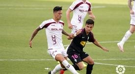 Manu García (d) podría dar el salto a Primera. LaLiga/Archivo