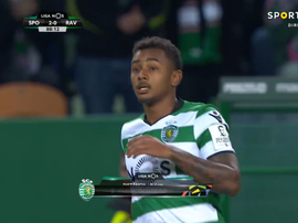Momento da estreia de Wendel pelo Sporting CP. Captura/Sport TV
