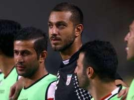 Makani, en un partido con la selección de Irán. Twitter