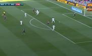 Malcom scored after 17 minutes. Twitter/FCBarcelona