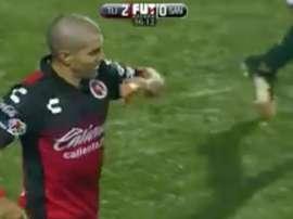Malcorra celebra su gol ante Santos Laguna. Twitter