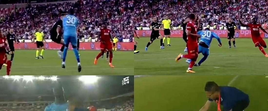 Samassa se desmayó en dos ocasiones. Capturas/beINSports