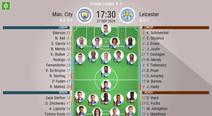Man City v Leicester. Premier League 2020/21. Matchday 3, 27/09/2020-official line.ups. BESOCCER
